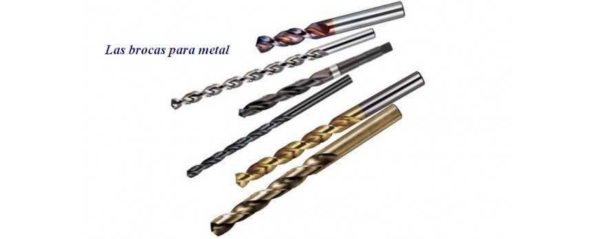 Las brocas para metal.