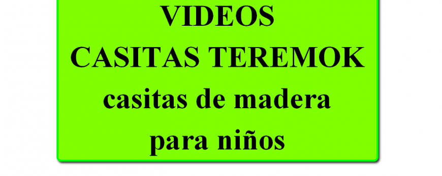 CANAL YOUTUBE CASITAS TEREMOK